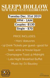 Sleepy Hollow New Year's Eve Celebration 2019